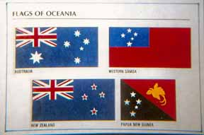 Four flags of Oceana